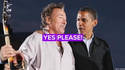 Барак Обама и Брус Спрингстийн с общ подкаст