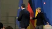 Конфузна ситуация на срещата между Меркел и Порошенко в Берлин