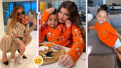 Да обърнеш нета: Кайли Дженър и дъщеря ѝ направиха Хелоуин сладки, 2-годишното с чанта за 12 хил.