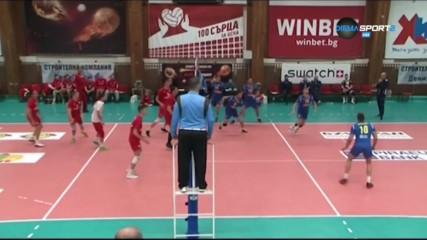 Обзор на 6-ия кръг от волейболното първенство при мъжете