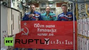 ISS: Russian crew members mark Victory Day 2015 from space