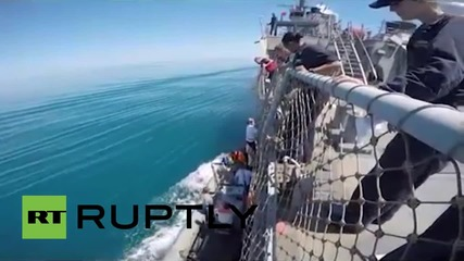 """В международни води: Украйна и американският разрушител """"Рос"""""""