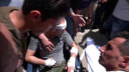 State of Palestine: Injured and killed in Israeli strikes rushed to Al-Shifa Hospital in Gaza