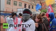Italy: Pro-refugee activists rally in Ventimiglia after No Borders camp evicted