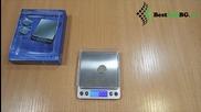 Малка джобна електронна везна до 500гр 0.01 за злато, бижута, дигитален кантар, риболов, багаж