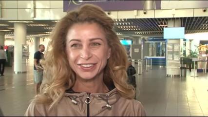 Весела Димитрова говори преди заминаването на ансамбъла за Баку