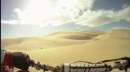 Ненормалник кара мотор в пустинята !