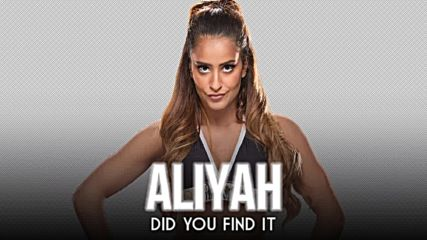 Aliyah - Did You Find It Official 1st Theme