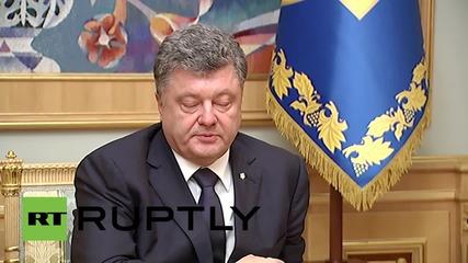 Нoвият губернатор на Одеса Саакашвили се срещна с Порошенко в Киев