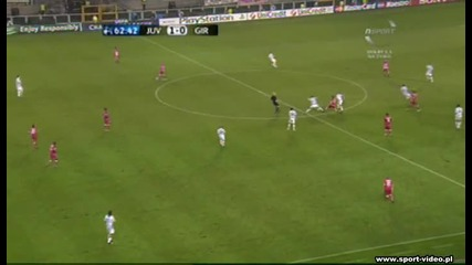 Juventus 1 - 1 Bordeaux * Iaquinta goal