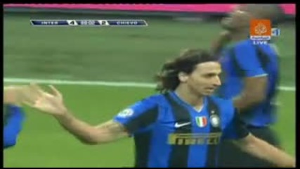 Ibrahimovic la bomba__ _inter-chievo4-2_ -