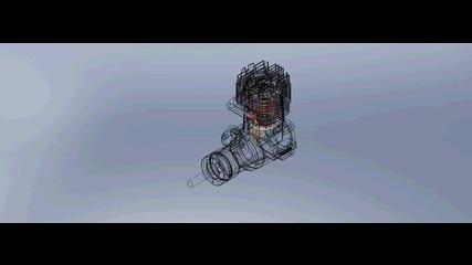 Анимация на двигател Asp7.5