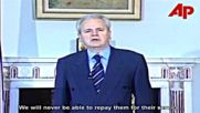 President Slobodan Milosevic declares victory over Nato aggressors 1999