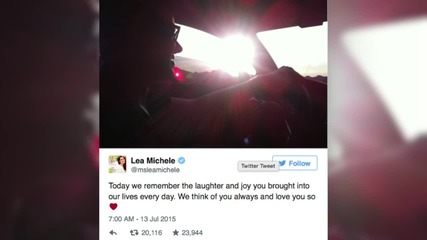 Lea Michele Shares Tribute to Cory Monteith on the Anniversary of his Death