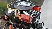 Барбекю двигател на мощна кола