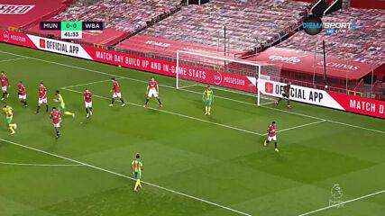 Манчестер Юнайтед - Уест Бромич Албиън 0:0 /първо полувреме/