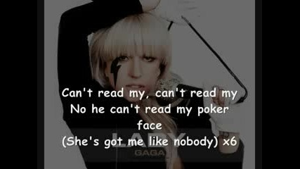 lady gaga - poker face (karoke)