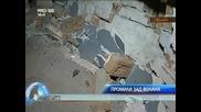 пиян шофьор помля кола и нахлу в сграда с автомобила си
