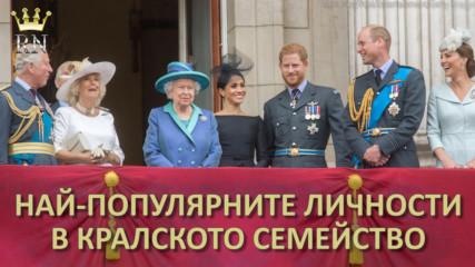 Най-популярните личности в кралското семейство през 2019