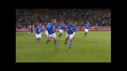 Италия 1 - 1 Парагвай *световно първенство Юар 2010* (група F) 14.06.2010.
