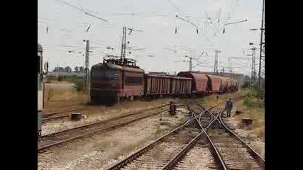 Товарен Влак Навлиза В Гара Подуяне