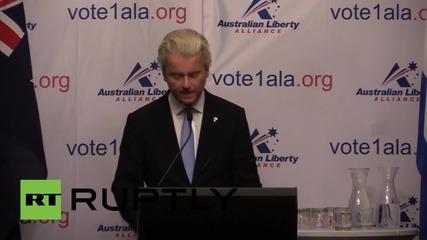 Australia: Geert Wilders heralds launch of Australian anti-Islam party