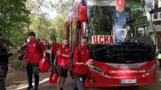 Футболистите на ЦСКА пристигнаха за дербито с Лудогорец