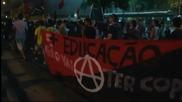Протести около Маракана вдигнаха на крак полицията в Рио