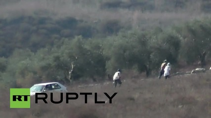 State of Palestine: Israeli settlers smash Palestinian's car after injuring British volunteer