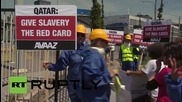 """Switzerland: """"Game over Blatter"""" - activists protest outside FIFA's annual conference"""