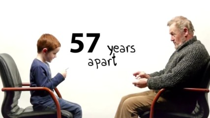 57 Години разлика - Момче и мъж говорят за живота