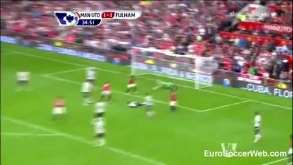 Кагава с първи официален гол за Юнайтед.