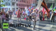 Italy: Roman Putin supporters laud Russia's intervention in Syria