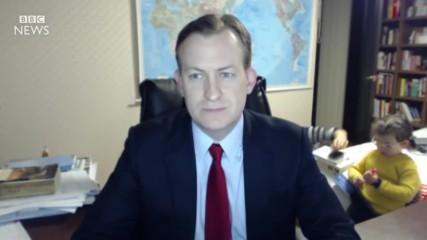 Гаф с интервю на живо по B B C News