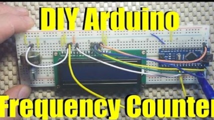 arduino powered frequency counter
