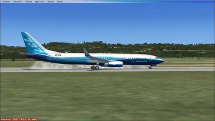 Кацане на летище Варна - Flight Simulator X