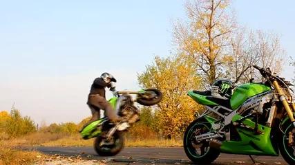 Eдин много красив спорт Stunt riding :]