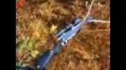 Снайпер си Пръсва Цевта при Изстрел