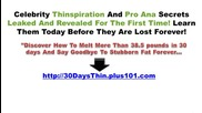 30 Days to Thin - Celebrity Thinspiration and Pro Ana Secrets Leaked and Revealed
