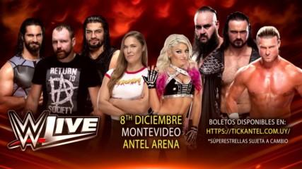 ¡WWE va por primera vez a Uruguay en diciembre!