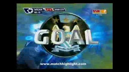 Уиган - Манчестер Сити 1:1 Гол на Мартин Петров
