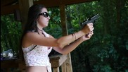 Shooting a Glock 19 9mm - Girls Shooting Guns