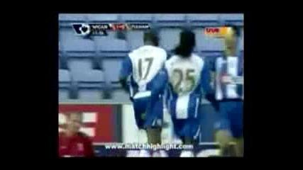Уигън 1 - 1 Фулъм /08.11.2009/ [][][] Wigan 1 - 1 Fulham /08.11.2009/