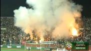 Факли в Сектор Б на националния стадион ! България - Ейре 1:1