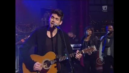 John Mayer - Who Says (live Letterman 2009)