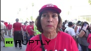 USA: Donald Trump migrant employees protest for better work conditions