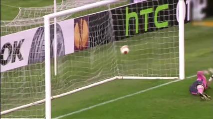 Лацио 0:1 Лудогорец Разград, гол на Безяк