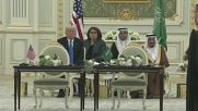 Saudi Arabia: Trump and King Salman sign agreements, including $110 billion defence deal