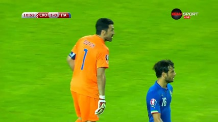 Скандалната ситуация около отменения гол на Италия и гола на Хърватия