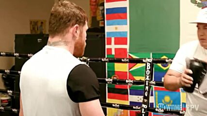 USA: Canelo Alvarez holds media workout ahead of clash with Caleb 'Sweethands' Plant